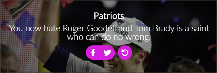 אוהדת של Patriots