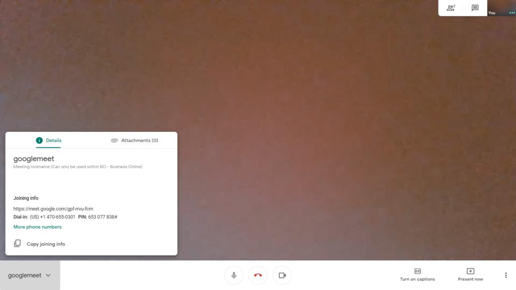 google meet by url